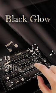 Black Glow GO Keyboard Theme