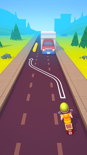 Deliveryman: running bike race 3D  screenshots 2