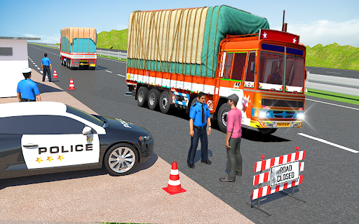 Indian Cargo Truck Transporter City Driver 3D Game  screenshots 12