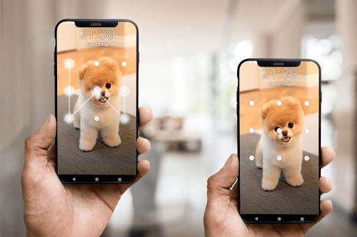 Puppy Dog Pattern Lock Screen android2mod screenshots 1