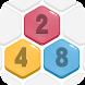 ヘキサポップ:2048までにマージ!無料の六角形マージパズルゲーム - Androidアプリ