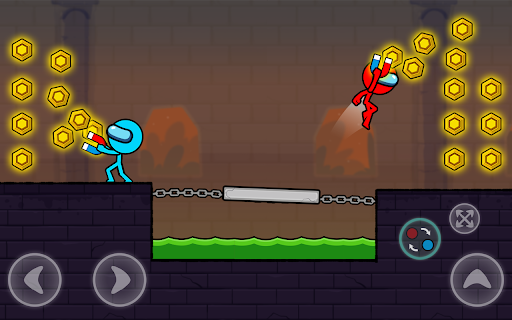 Red and Blue Stickman : Season 2 android2mod screenshots 24