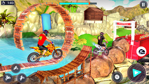 Bike Stunt Racer 3d Bike Racing Games - Bike Games screenshots 1
