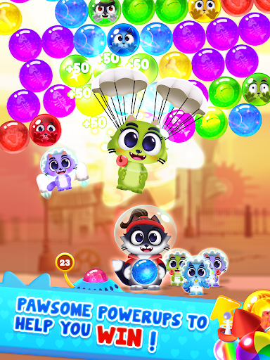 Space Cats Pop - Kitty Bubble Pop Games apkmr screenshots 15