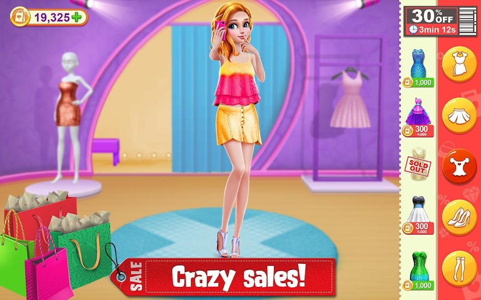 Shopping Mania - Black Friday Fashion Mall Game screenshot 12