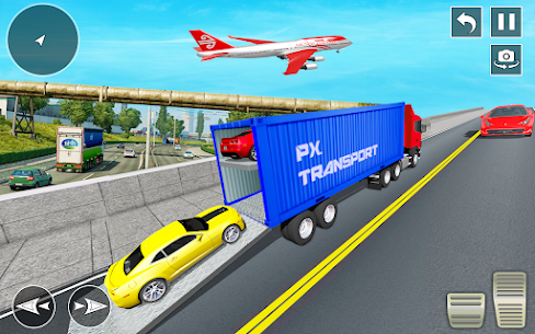 Crazy Car Transport Truck: Offroad Driving Game 4