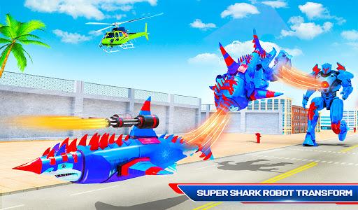 Robot Shark Attack: Transform Robot Shark Games apkpoly screenshots 11