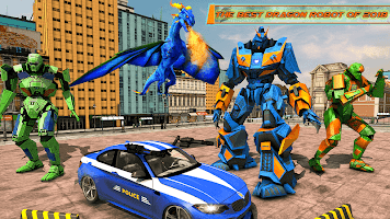 US Police Transform Robot Car Fire Dragon Fight