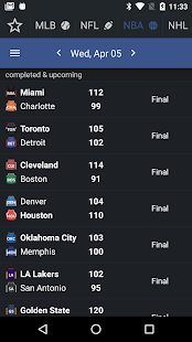 Sports Alerts - real-time scores, stats & odds Screenshot