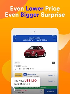 QEEQ Rent A Car - Compare Car Rental Deals Screenshot