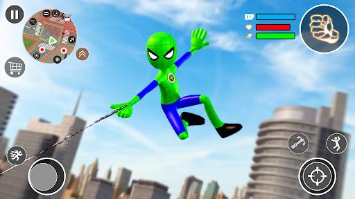 Flying Stickman Rope Hero  screenshots 2