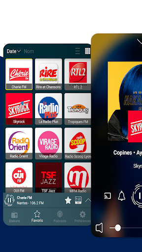 radios france: fm radio and internet radio screenshot 1