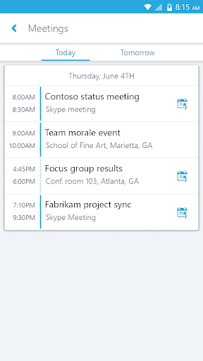Skype for Business for Android  screenshots 3