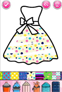 Glitter Dresses Coloring Book - Drawing pages 7.0 Screenshots 4