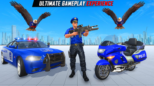 Flying Police Eagle Gangster Crime Shooting Game android2mod screenshots 4