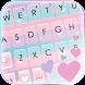 最新版、クールな Pastel Girly のテーマキーボード
