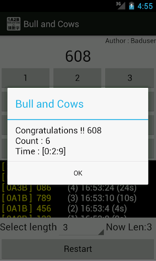 bulls and cows / guess number screenshot 3
