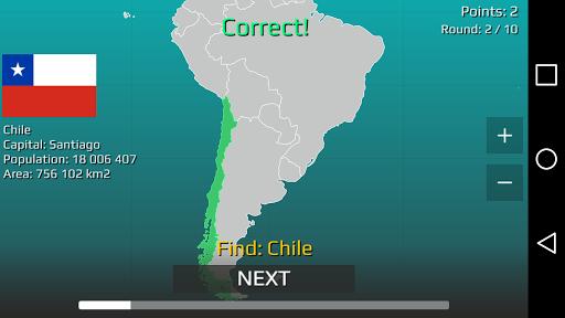 World Map Quiz 2.17 screenshots 10