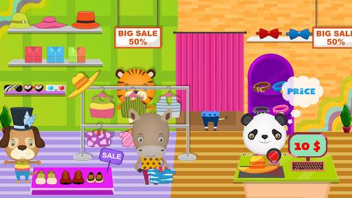 pretend pet supermarket: town animal mall shopping screenshot 2