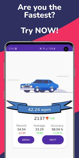 Type Race 2021 -Fast Typing Speed Test Racer Nitro Apkfinish screenshots 3