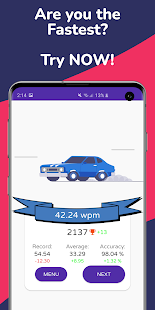 Type Race 2021 -Fast Typing Speed Test Racer Nitro 1.91 screenshots 3