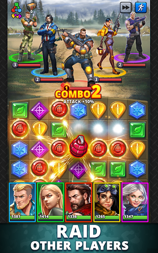 Puzzle Combat: Match-3 RPG android2mod screenshots 14