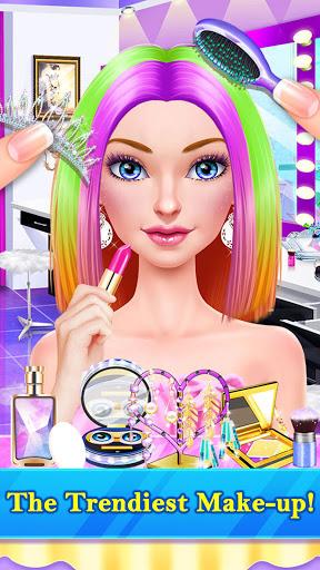 Hair Stylist Fashion Salon u2764 Rainbow Unicorn Hair screenshots 6