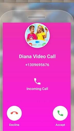 Kids Diana Fake Video Call : Prank Chat Call Video