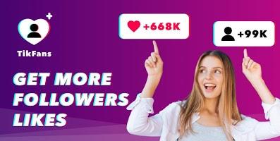 Tikfans : grow likes & followers for Tic Tok