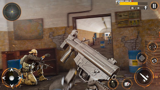 Real Commando Combat Shooter : Action Games Free android2mod screenshots 4