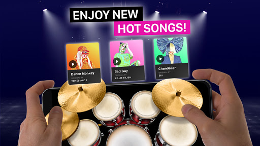 Drums: real drum set music games to play and learn apktram screenshots 1