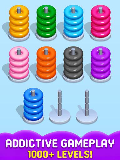 Stack Sort Puzzle - Color Sort - Hoop Sort Stack Apkfinish screenshots 9
