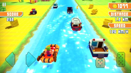 Blocky Highway: Traffic Racing  screenshots 2