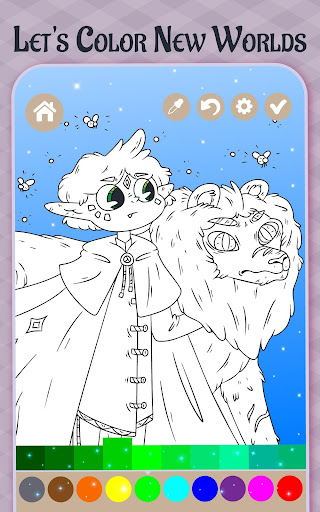 Imagination Coloring book apkpoly screenshots 1