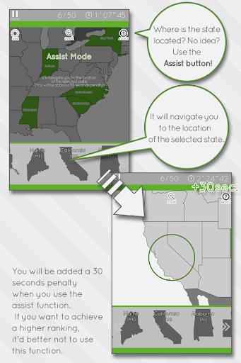 Enjoy Learning U.S. Map Puzzle 3.2.3 screenshots 3