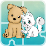 Kitty and Puppy Puzzle game apk icon