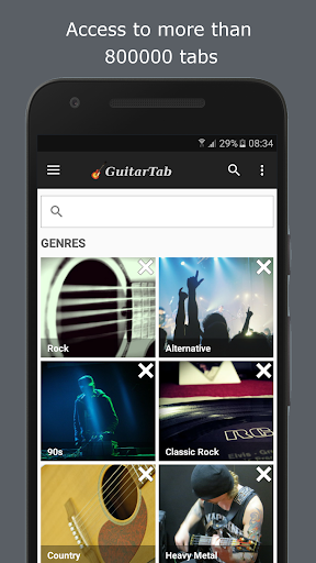 guitartab - tabs and chords screenshot 1