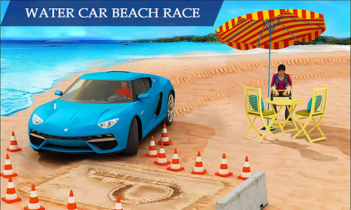 water surfing floating car racing game 2020 screenshot 1