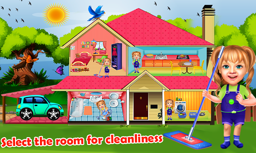 Sweet Baby Girl Cleaning Games 2021: House Cleanup screenshots 9
