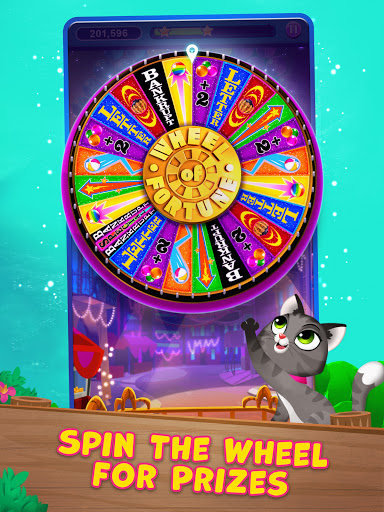 Bubble Pop: Wheel of Fortune! Puzzle Word Shooter apkpoly screenshots 9