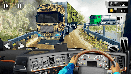 Army Truck Driving Simulator Game-Truck Games 2021 android2mod screenshots 3