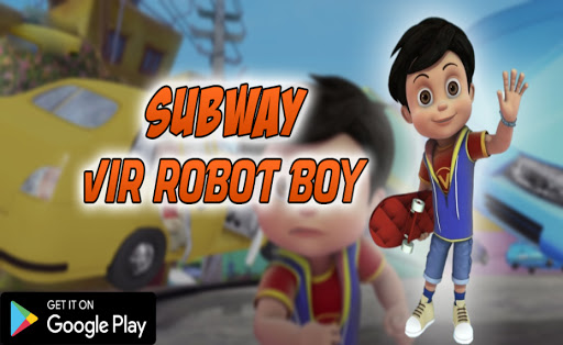 Subway Vir The Robot Boy Skateboard - Endless Rush apkpoly screenshots 1