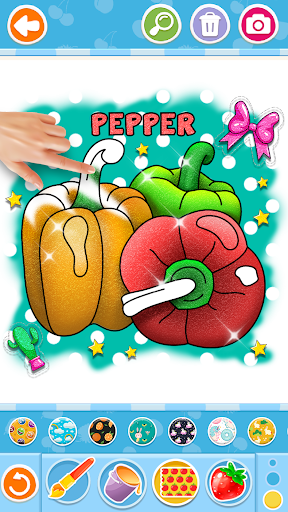Fruits and Vegetables Coloring Game for Kids  screenshots 8