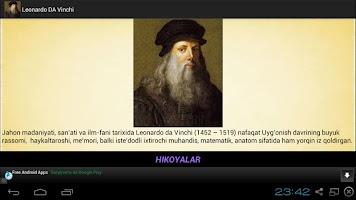 screenshot of Leonardo da Vinchi Hikoyalari