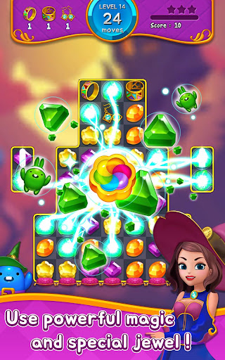 Jewel Witch - Best Funny Three Match Puzzle Game 1.8.2 screenshots 22