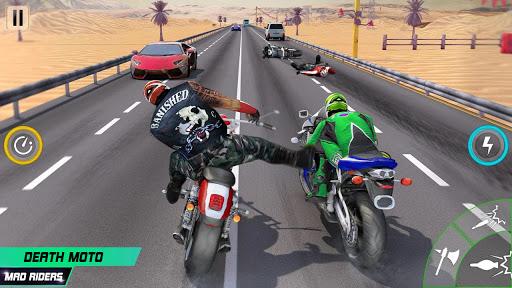Highway Death Moto- New Bike Attack Race Game 3D  screenshots 1