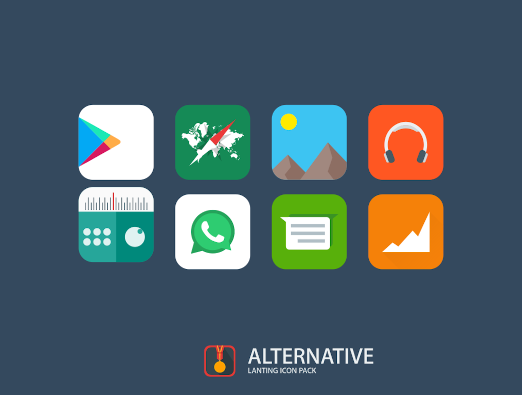 Lanting Icon Pack: Material and Colorful poster 10
