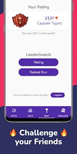 Type Race 2021 -Fast Typing Speed Test Racer Nitro 1.91 screenshots 4