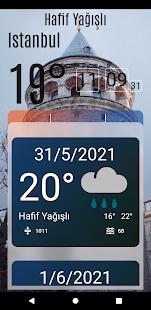 Mevsimİst - İstanbul için hızlı hava durumu