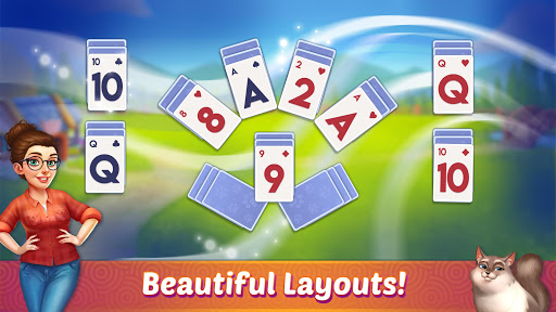 Solitaire Pet Haven - Relaxing Tripeaks Game apkpoly screenshots 7